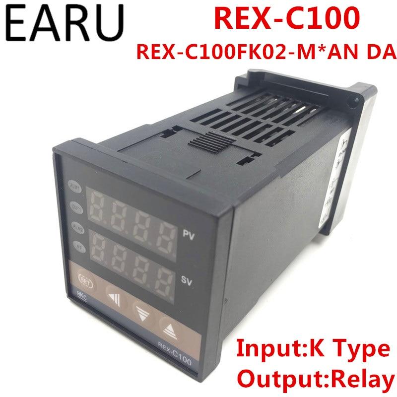 RKC REX-C100 REX-C100FK02-M*AN DA Digital PID Temperature Control Controller Thermostat Relay Output K Type Input AC110-240V u7 люкс crown кольца для женщин модные 18k gold plated платина кубического циркония обручальные обручальные кольца кольца promise