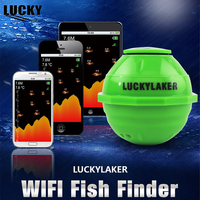 Lucky FF916 Wireless WIFI Sonar Fish Finder Russian 12 Languages Car Charger Free Gift WIFI Extender