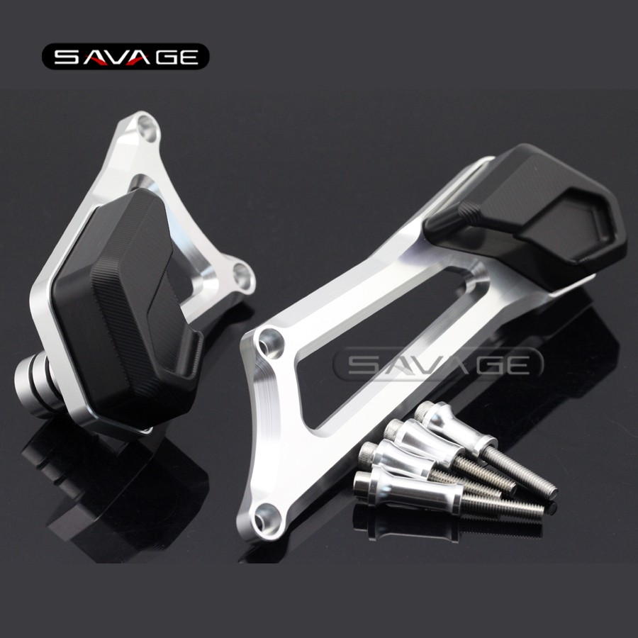 For MV Agusta Stradale 800/ Rivale 800 2014 2015 2016 Motorcycle Left Right Engine Case Guard Cover Frame Slider Crash Protector for suzuki gsx1300 b king 1300 2008 2012 09 10 11 motorcycle engine case guard cover frame slider crash protector black