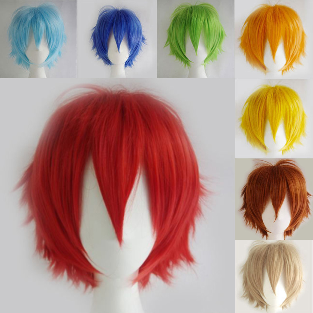 Buy Cosplay Short Wig 30cm Japanese Synthetic Black Brown