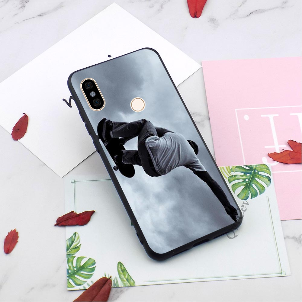 Shockproof Skateboarding Sports Phone Cover for Xiaomi Redmi 6 Case 4X 4A 5 Plus 5A Prime 6A Note 5 Pro Cases in Fitted Cases from Cellphones Telecommunications