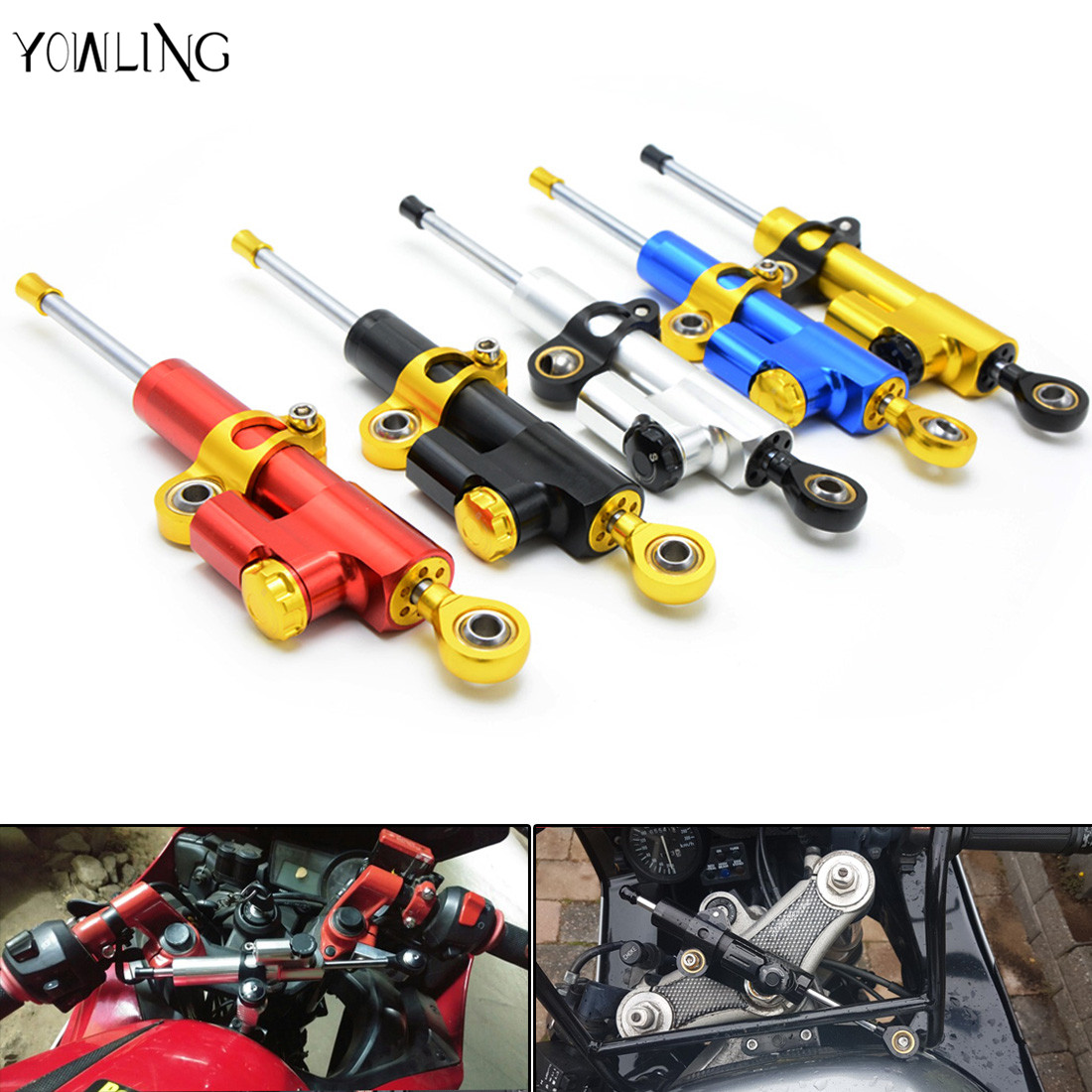 Universal Motorcycle Accessories Stabilizer Damper Steering For Kawasaki Z1000 Z800 Z750 EX-300 for honda cer 954 for Yamaha r1 for kawasaki z750 z800 z 750 z 800 universal motorcycle accessories stabilizer damper steering mounting all year