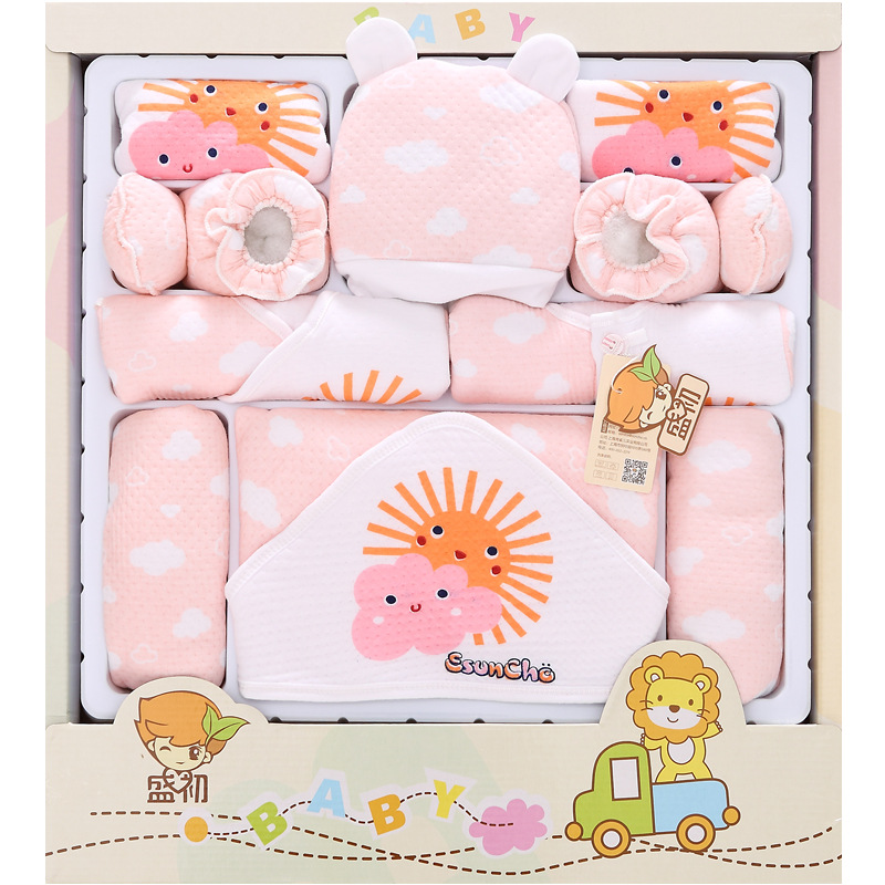 2018 New Thick 17pcs Newborn baby girls Clothing 0 6months infants baby warm clothing baby gift set without box