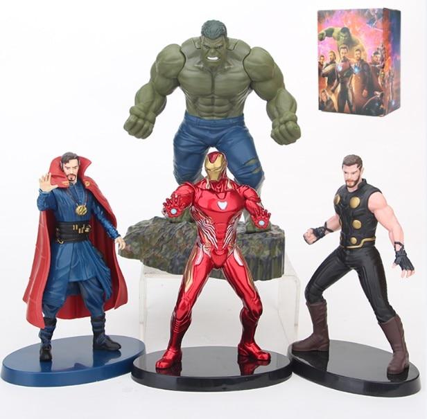 JHACG Avengers Infinity War Hulk iron Man Thor Doctor Strange Action figure toys doll Christmas gift with box