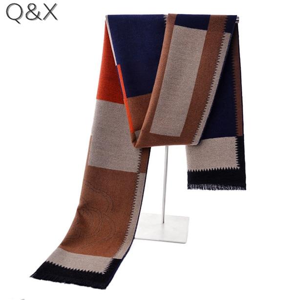 SC20 2018 New Modal Warm Winter Design Fashion Plaid Brushed Long Scarf Male Elegant Men Striped Weaved Business Shawl 180*30cm