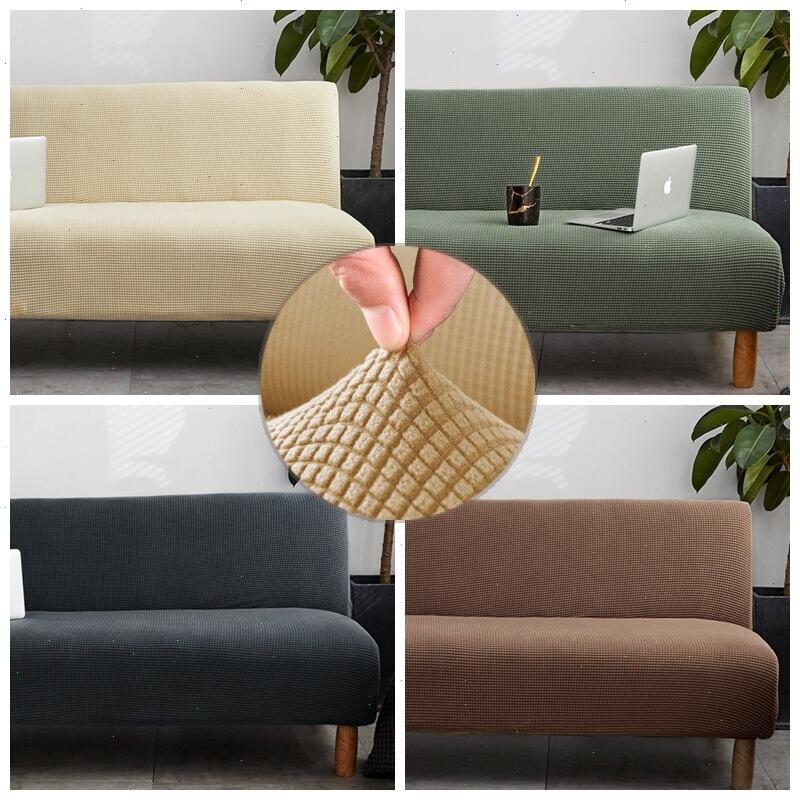 Housse de canapé-lit en peluche solide housse tout compris pour canapé-lit sans accoudoir housses de canapé pour canapé-lit pliant housse de canapé-lit