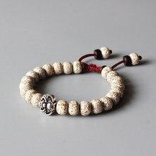 31c3a77f31a8 Budismo Tibetano Xingyue Bodhi Seed OM Mala Beads Vintage Bat amuleto pulsera  para hombre joyería de cuentas de madera Natural a.