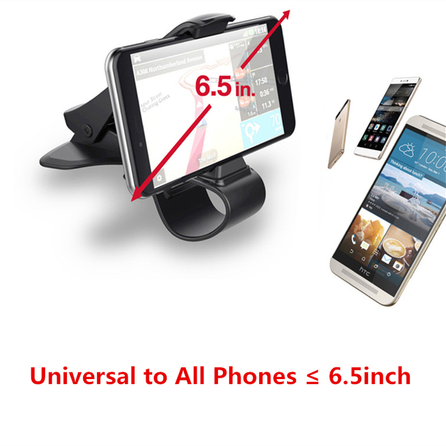 6.5 inch Dashboard Car Phone Holder Easy Clip Mount Stand