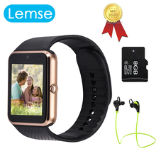 Lemse GT08 Bluetooth Smart Watch Wearable Devices Support SIM TF Card MP3