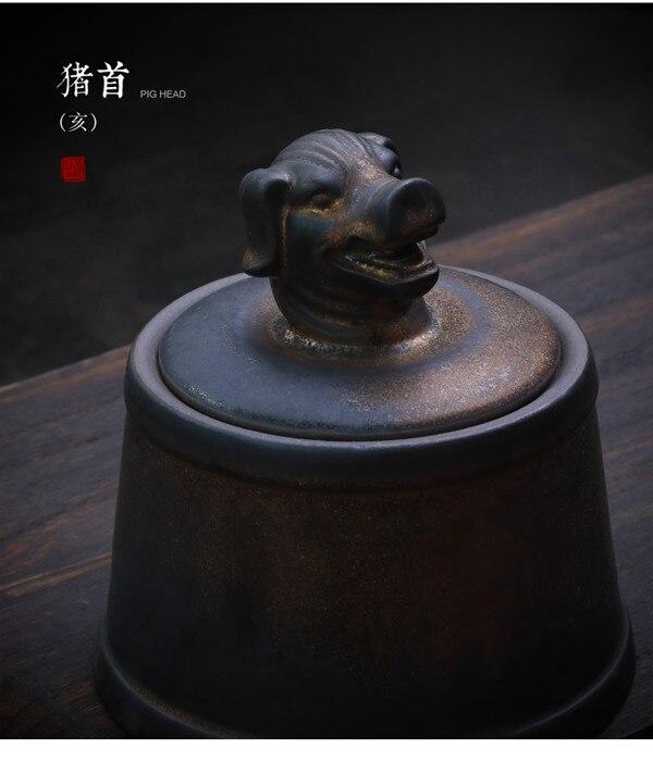 Прах питомца кремации держатель урны собака в память о кошке шкатулка животное на память о похоронах Hond 500 г большой емкости свинья лошадь OXCaskets - Цвет: Pig Head