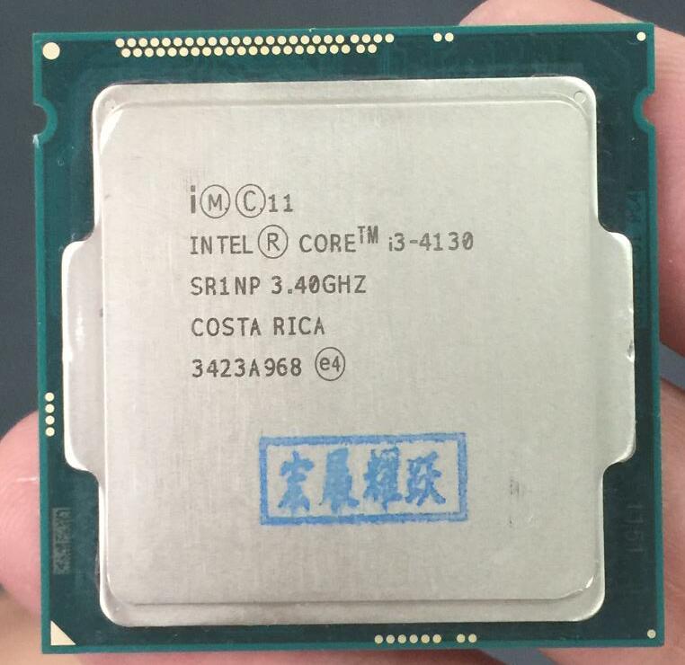 PC ordinateur Intel Core Processeur I3 4130 I3-4130 CPU LGA1150 22 nanomètres Dual-Core 100% fonctionne correctement De Bureau Processeur