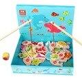 Niño y Niña Del Woodiness Juguetes Magnéticos De Pesca/Nuevo juego de dados/material de la alta calidad/Los Niños's juguetes magnéticos de pesca/CC004