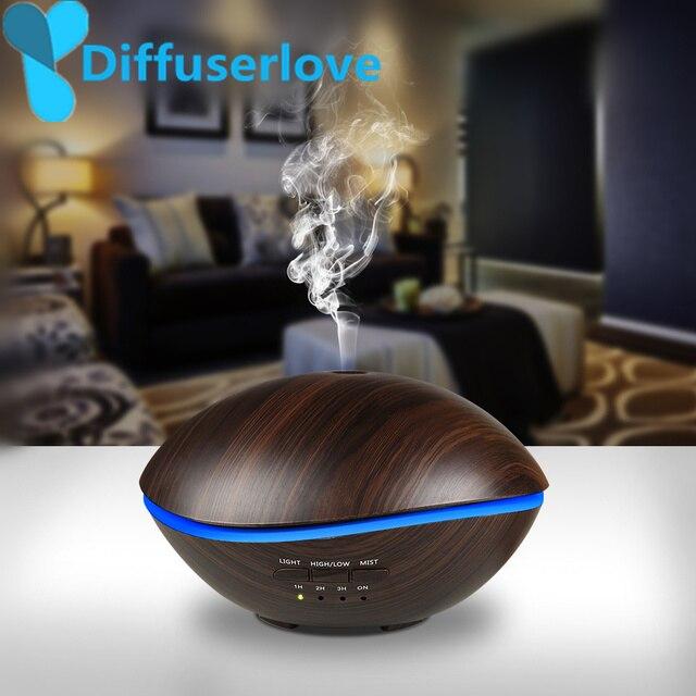 Diffuserlove 500 ML светодиодный светильник воздуха ультразвуковой увлажнитель для дома эфирное масло диффузор распылитель освежитель воздуха Mist ...