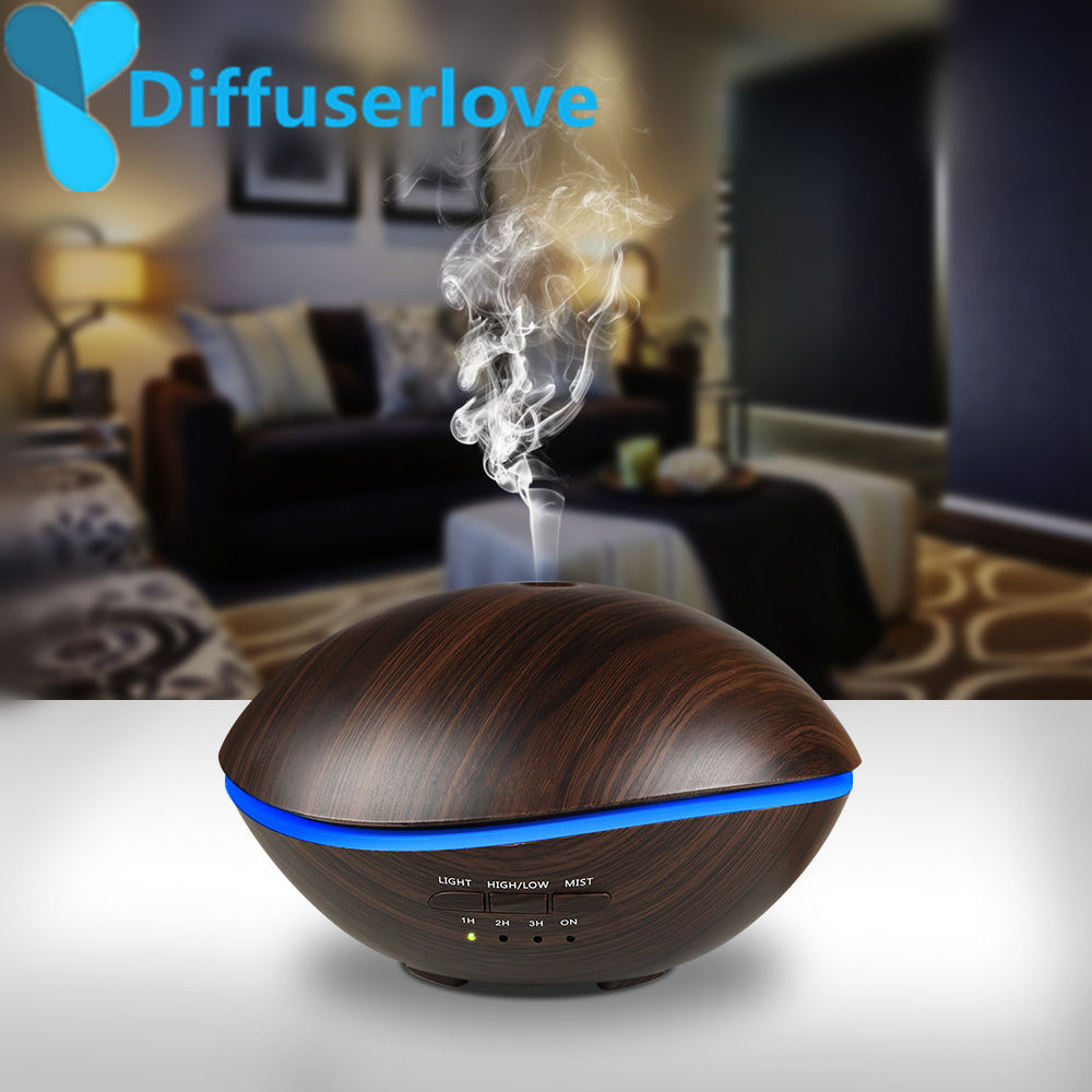 Diffuserlove 500 ml lámpara LED humidificador ultrasónico para el hogar difusor de aceite esencial atomizador ambientador Mist Maker para el hogar