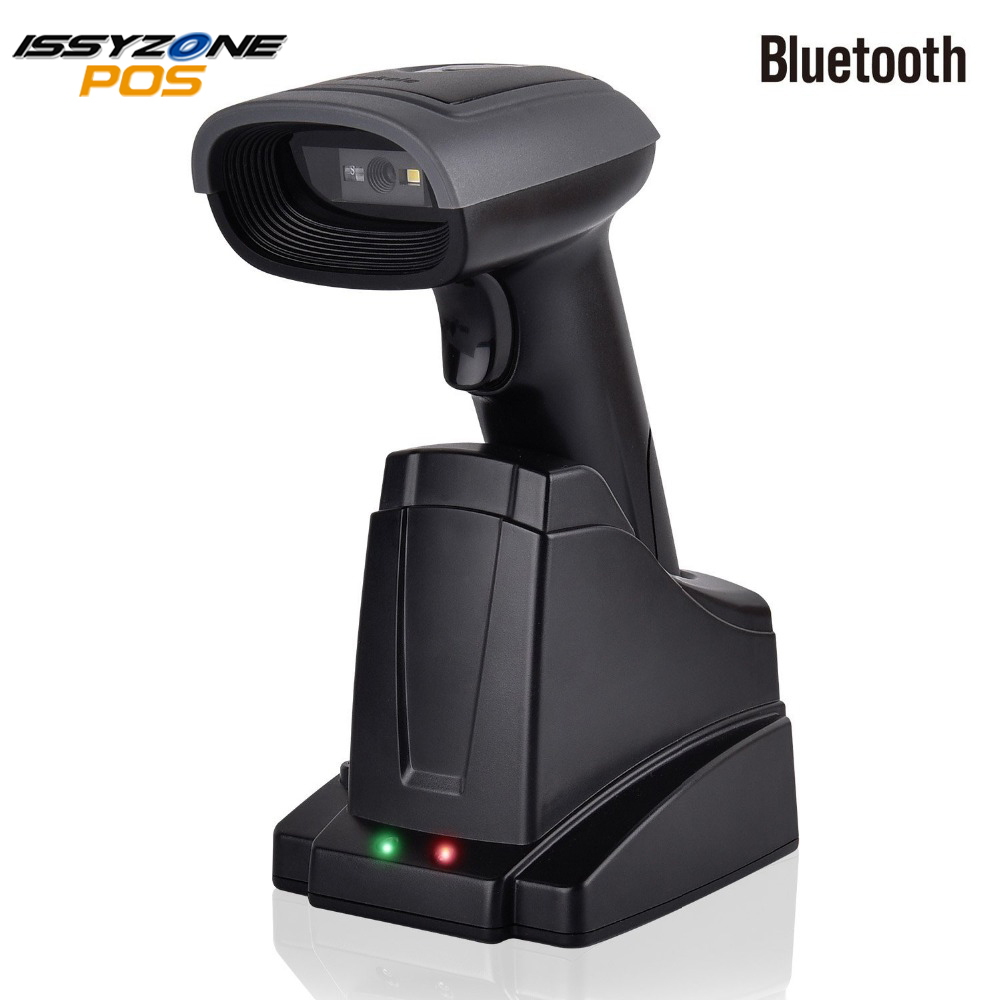 ISSYZONEPOS 2D QR Bluetooth Barcode Scanner 3 in 1 Handheld Wireless Automatic Bar Code Scanner For