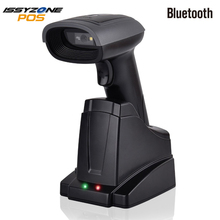 цена на ISSYZONEPOS 2D QR Bluetooth Barcode Scanner 3 in 1 Handheld Wireless Automatic Bar Code Scanner For Android iPhone iPad Windows