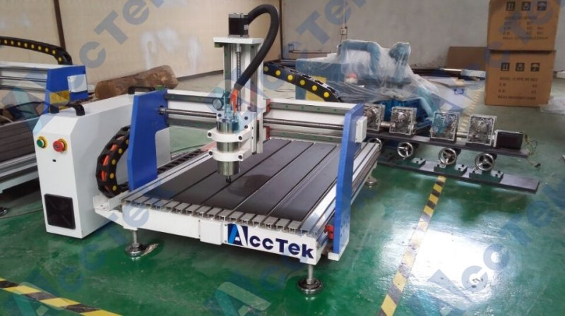 Chine Acctek cnc routeur machine mini 6090 3d laser scanner machine