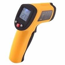 Big discount Handheld Non-Contact 12:1 DS IR Laser Infrared Digital Thermometer + Laser Target Pointer -50~380 deg. C / -58~716 deg. F Range