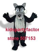 Sommer heißer verkauf!! Neue Erwachsene wolf mit schwarz anzüge schuhe hände maskottchen kostüm-fantasie-partei kleid Halloween kostüm