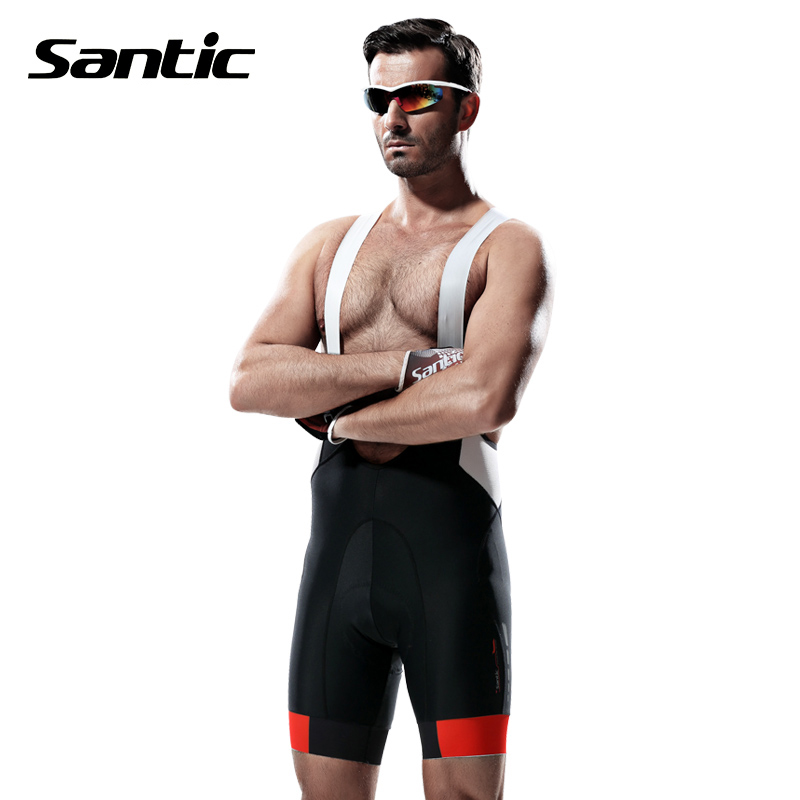 SANTIC Cycling Shorts Men Downhill MTB Road 4D Padded Bicycle Clothes Cycling Clothing Quick Dry Bike Shorts Bermuda Ciclismo wosawe new men s cycling shorts 4d padded cool gel riding bike cycling clothing