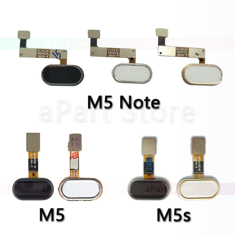 Back Home Button Key Fingerprint Sensor Flex Cable For Meizu M5 Note M5s Original Phone Parts