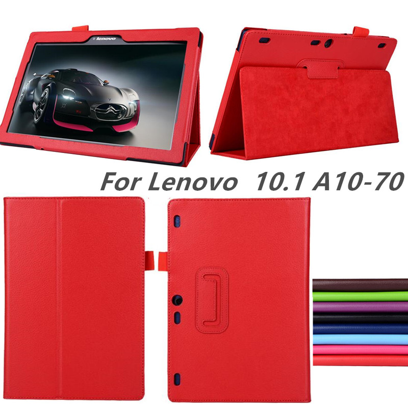 New PU Leather for Lenovo Tab 2 A10 70 Case Flip Stand case for lenovo Tab 2 A10-70 A10-70F A10-70L 10.1'' Tablet Para Cover