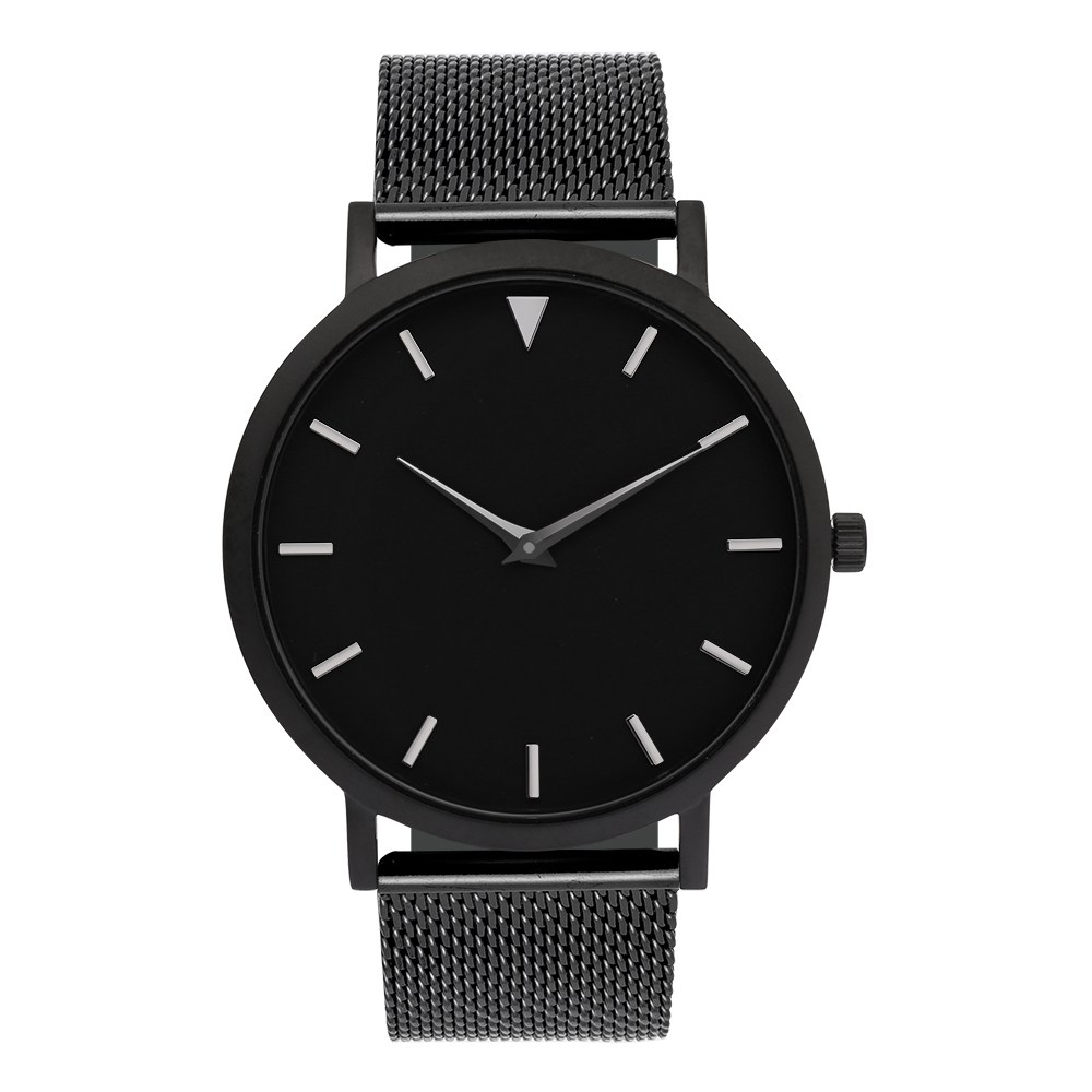 Drop Shipped Stainless Steel Watch Leather Strap 2 Years Warranty