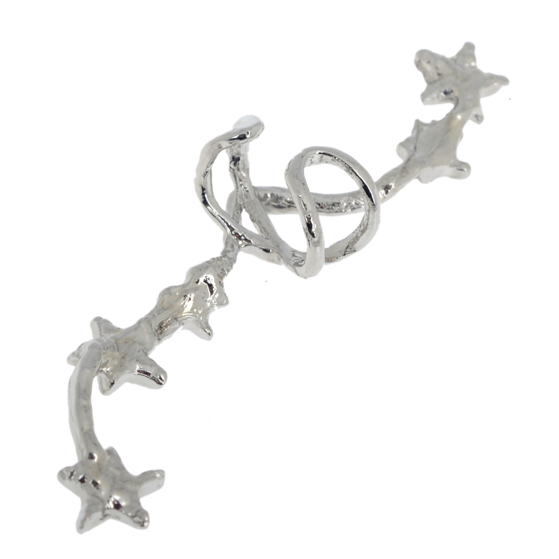 PINKSEE Hot Korean Chic Gold Silver Color Star Ear Bone Clip On Ear - Bisutería - foto 4