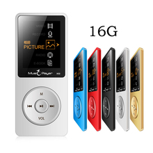 16 GB Reproductor de Música MP3 Altavoz Incorporado con 1.8 Pulgadas de Pantalla FM Radio Grabadora de Voz Reproductor Multimedia Multifuncional