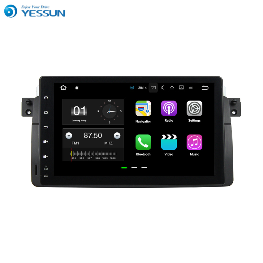 YESSUN GPS de Navigation de voiture Android pour BMW M3/E46 1998 ~ 2005 Audio vidéo HD écran tactile lecteur multimédia stéréo pas de CD DVD.
