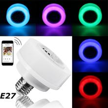 LED Music Light Bulb E27 LED Wireless Bluetooth Bulb Light Speaker RGB Music Play Lamp Phone Control For Party Home DJ Holiday