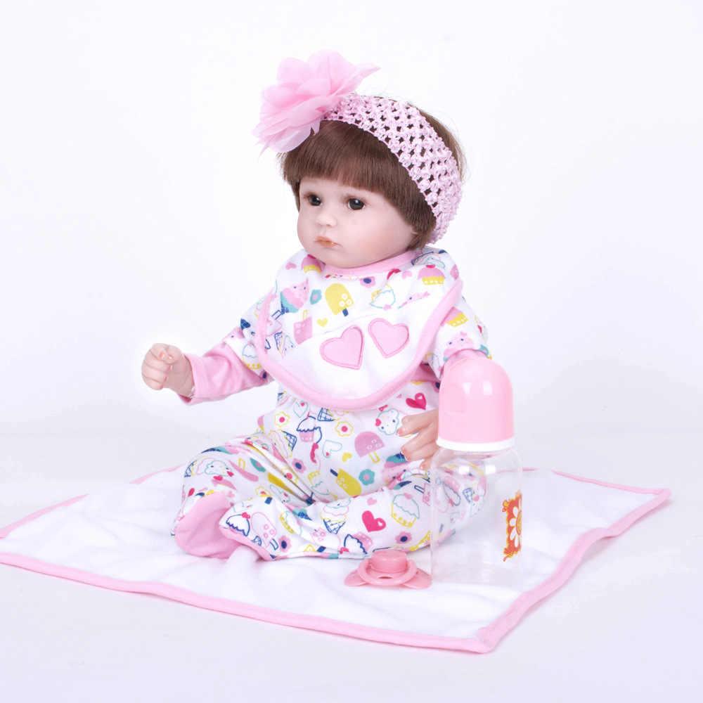 LEOOFU 45 سنتيمتر 18 بوصة الأميرة فتاة الجسم نموذج تولد من جديد دمى طفل عيون عالية الجودة لعب متجر الراتنج أنيمي اللعب منزل اللعب