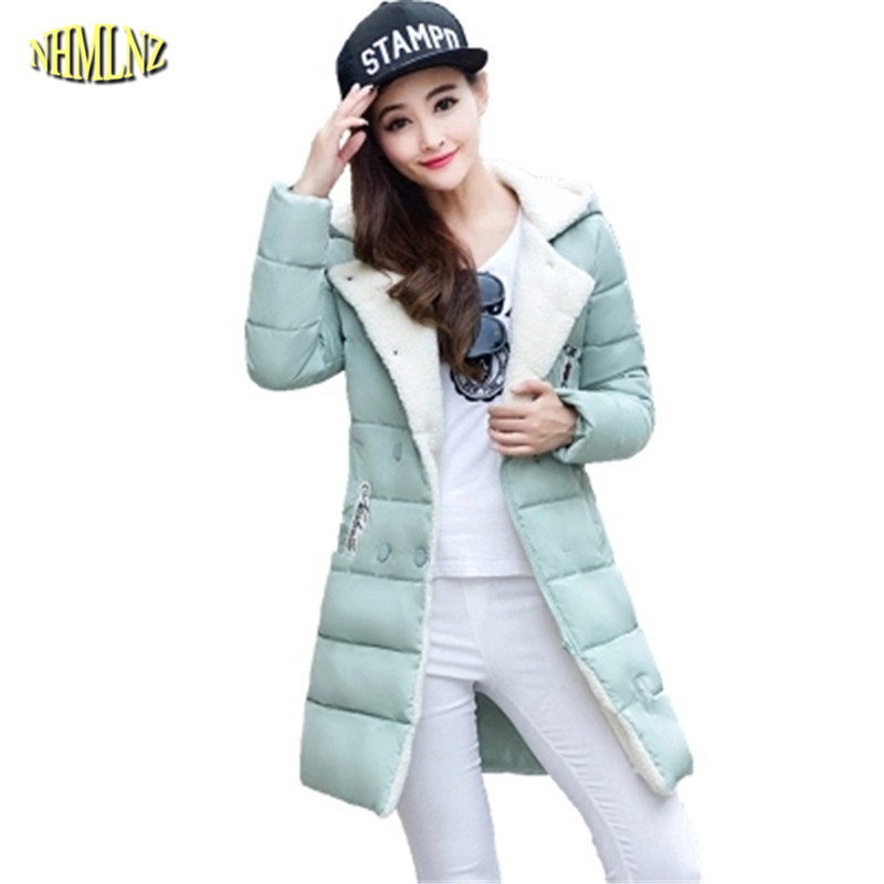 Women Coat 2016 New Winter Women Jacket Coat Long Slim Thickening Warm High quality Fashion Cotton-padded Outerwear G2900 good quality children winter outerwear 2016 girls cotton padded jacket long style warm thickening kids outdoor snow proof coat