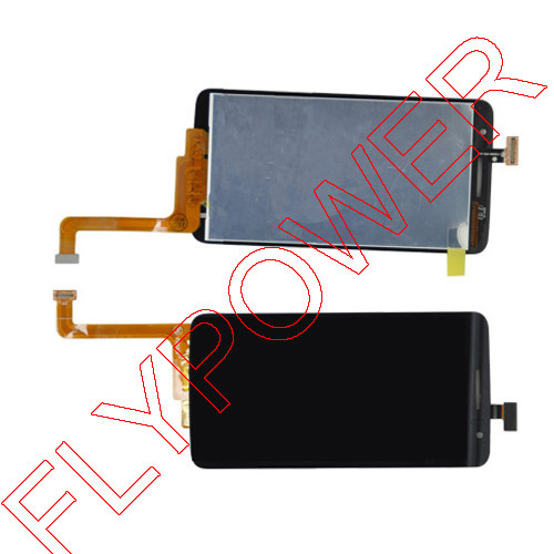 100% New LCD Display + Touch Screen Digitizer Assembly For Alcatel One Touch Scribe HD OT8008 OT-8008A 8008 by free shipping