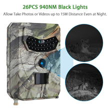 1080P Hunting Cameras IP54 Waterproof 12MP Infrared Night Vision Animal Photo Wildlife Camera 940nm 120 Degree Trap Trail Camera