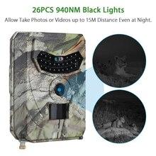 1080P 사냥 카메라 IP54 방수 12MP 적외선 야간 동물 사진 야생 동물 카메라 940nm 120 학위 트랩 트레일 카메라
