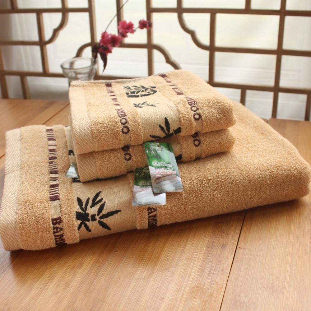 3 pcs handuk cetak, 100% serat bambu mandi pantai handuk wajah set untuk orang dewasa, 34 cm * 75 cm * 2 p 70 cm * 140 cm * 1 p ...
