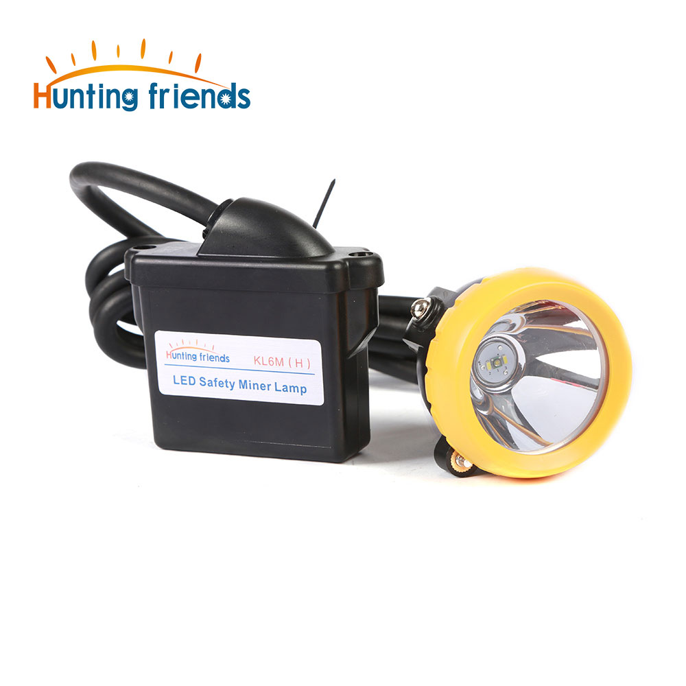 Huntinhg Friends 1+2 LED Miner Lamp KL6M(H) 18650 Battery Mining lamp Waterproof Headlight Explosion Proof Cap Miner Lamp 2017 new led rechargeable cordless mining cap light waterproof led miners lamp headlight for fishing and professional works
