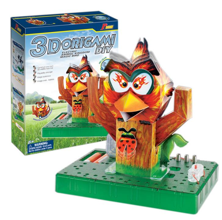 Angry origami Birds 3D Paper Puzzle Handmade DIY Electric Origami Toy Gifts Dropshipping