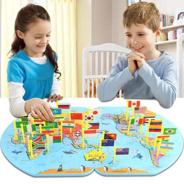 Educational baby kids 3d toys wooden building blocks world map educational baby kids 3d toys wooden building blocks world map national flag blocks creative kids intelligence gumiabroncs Images