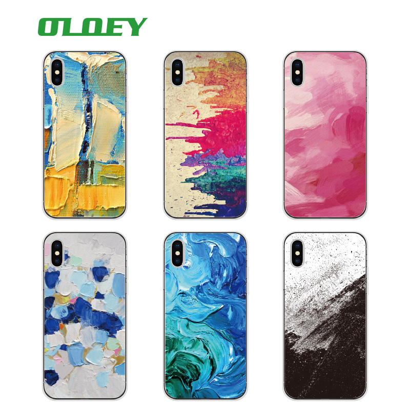 OLOEY Art Oil Painting Graffiti Pattern inked printed Phone Case Fundas For iPhone 6 6S 6Plus 7 7Plus 5 5S 8 8Plus X SAMSUNG S8