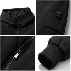 Image 5 - Pioneer camp new short winter parkas men brand clothing fashion hooded warm coat thick quality coat parkas male red AMF801485