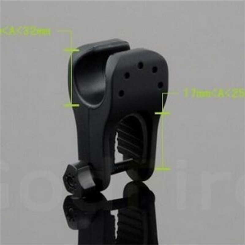 Cycling Headlight Clamp Bike Flashlight Mount Holder Cycle Bicycles Q5 LED Torch Bracket Front Light Holder Head Lamp Clip