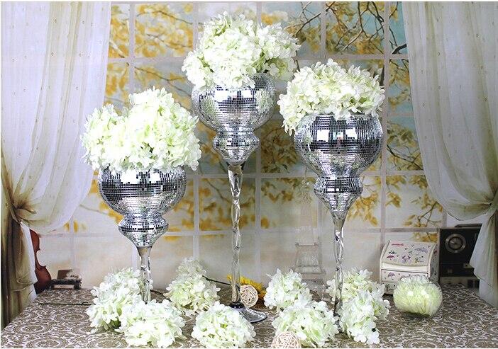 10pcs30cm40cm Tall Transparent Clear Glass Wedding Table