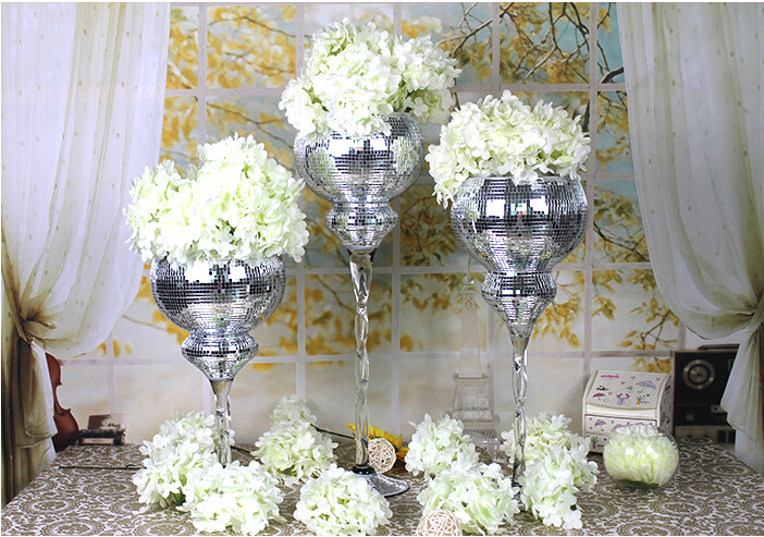 2 Pcs 50 Cm Best Selling Clear Glass Wedding Flower Stand