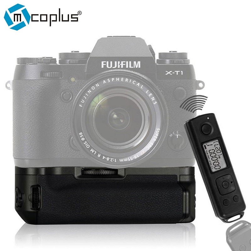 Mcoplus Meike BG-XT1 Pro Vertical Battery Grip for Fujifilm Fuji X-T1 XT1 OEM Meike MK-XT1 Pro with 2.4G Wireless Remote Control meike mk a6300 pro remote control battery grip 2 4g wireless remote control for sony a6300 ilce a6300 np fw50