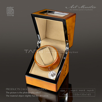 Tang Wood Watch Winders With Decorative Pattern Fashion Mechanical Self Watch Winder New Watch Storage Case W0112