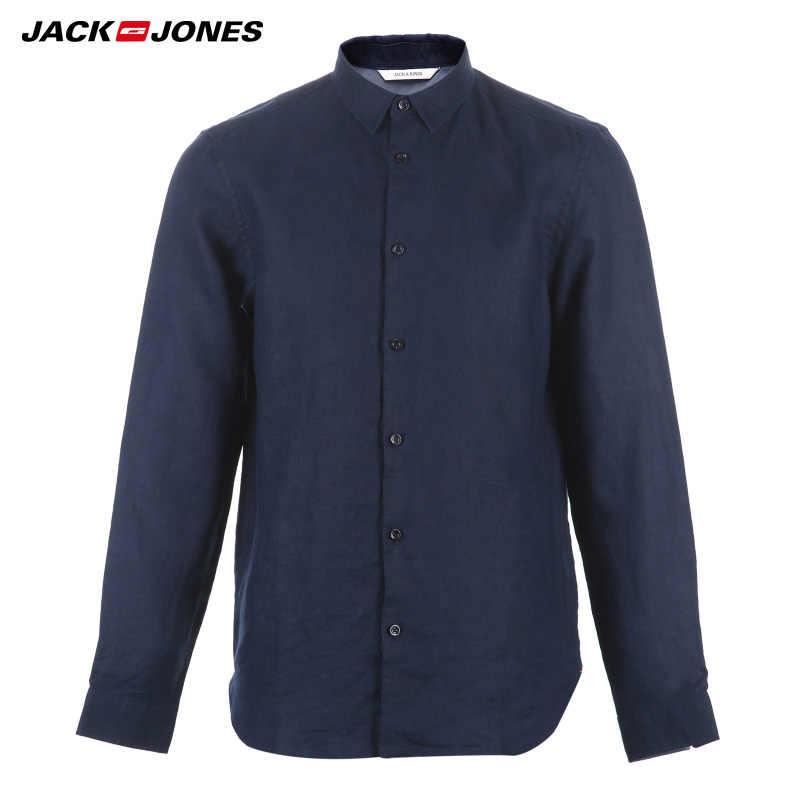 Martinetti & Jones Marca 2019 NUOVO 100% di Lino sottile maniche lunghe camicie maschili | 217105552
