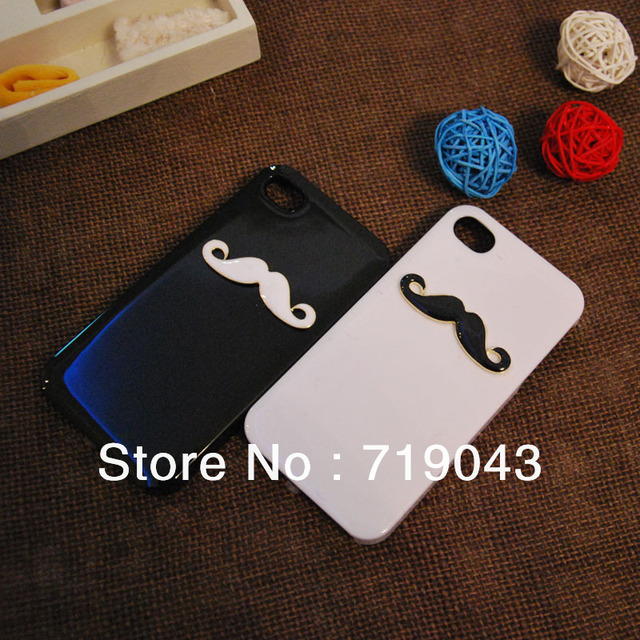10pcs/lot New Hot LEON Chaplin Sexy 3D Beard Mustache Hard Back Case Cover For Apple iPhone 5 Couple & Lovers ,free shipping