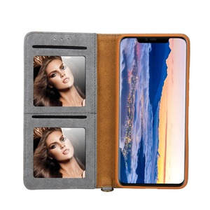 Image 4 - Sided Card Holder Magnetic Flip Book Stand Luxury PU Leather Wallet Case for Huawei P40 Pro P40 P30 Pro P20 lite P20 Pro Cover